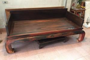 老挝大红酸枝曲尺罗汉床三件套_中式红木古典家具罗汉榻实木沙发床组合睡榻产品