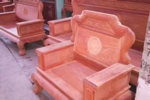 缅花红木家具缅甸花梨木实木沙发 大果紫檀国色天香全部独板113沙发图片
