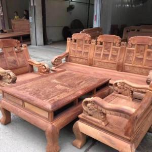大果紫檀如意象头113沙发_缅花红木家具缅甸花梨木实木沙发品牌