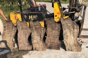 金丝楠木阴沉木木板1.5厚满水波面板料
