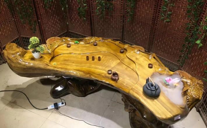 金丝楠木根雕茶台厂家