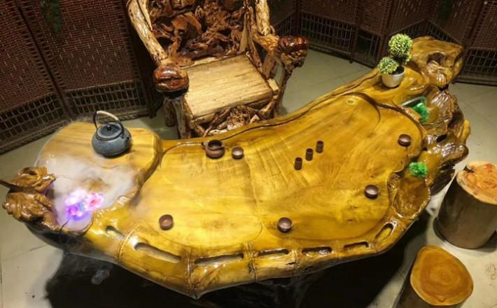 金丝楠木根雕茶台怎么卖