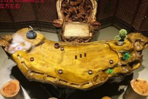 金丝楠木流水鱼缸金丝楠木流水茶台大气实用意境桃花府红木家具