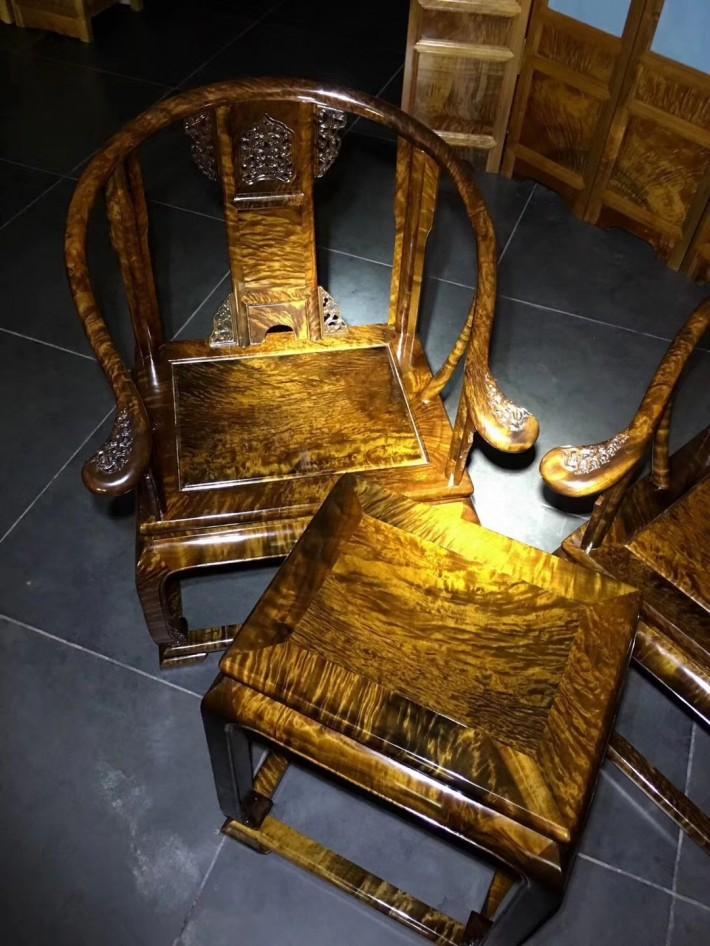 千年金丝楠木乌木皇宫椅