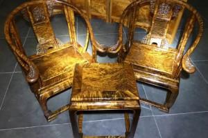 千年金丝楠木乌木皇宫椅三件套雕花仿古太师椅桢楠阴沉木圈椅桃花府红木家具产品