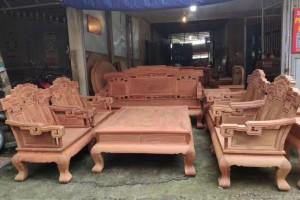 缅甸黄花梨步步高升沙发组合大果紫檀沙发,别墅气质,高端大气上档次