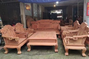 缅甸黄花梨步步高升沙发组合大果紫檀沙发,别墅气质,高端大气上档次图片