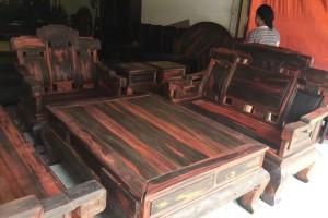 老挝大红酸枝步步高升沙发组合古典中式,榫卯结构油性足,用料厚,色彩正图片