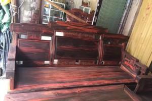 老挝大红酸枝步步高升沙发组合古典中式,榫卯结构油性足,用料厚,色彩正产品