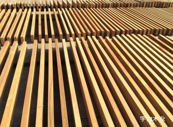 缅甸柚木板材规格料图片