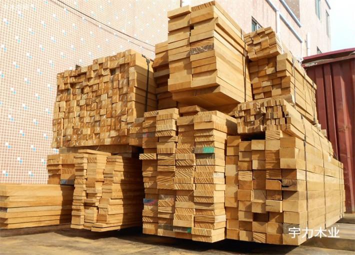 缅甸柚木板材规格料
