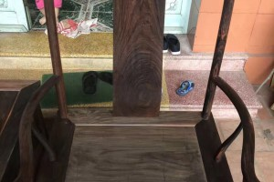 老挝大红酸枝(交趾黄檀)老料椅子茶几三件套四出头精工品质图片