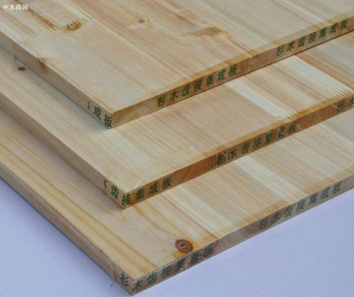 杉木集成板减少了实木节子