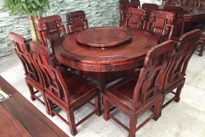 缅甸红酸枝圆餐桌
