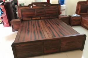 老挝大红酸枝大床,精品酸枝大床,交趾黄檀床,大方料!