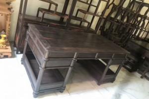 老挝大红酸枝书房老料,红酸枝博古架组合