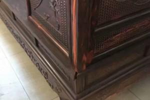 老挝大红酸枝雕花架子床,富贵名家,传世之作,交趾黄檀雕花大床