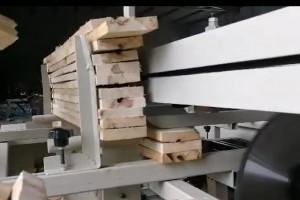 全自动双头锯切下料锯,木托盘加工多片锯,木工设备
