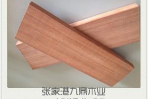 红梢木刨开槽异型加工 红梢木菠萝格 原木定尺加工