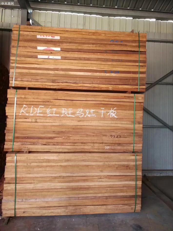 进口非洲红斑马烘干板材厂家
