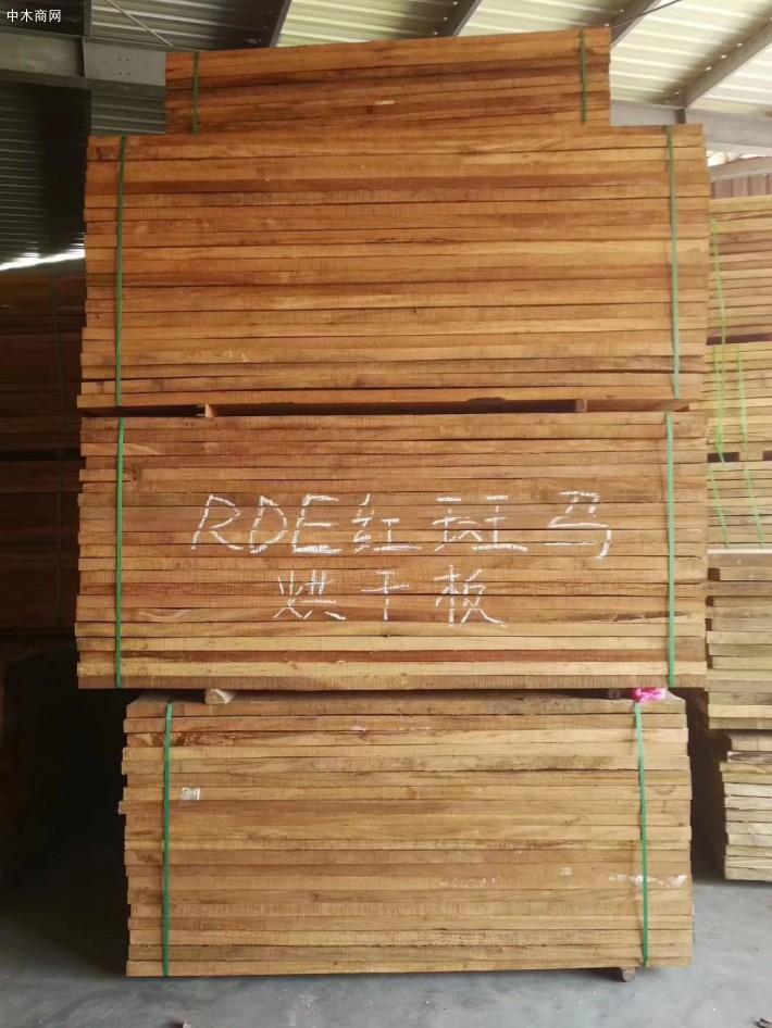 进口非洲红斑马烘干板材品牌
