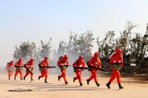 九江市濂溪区开展森林防火知识技能和火场急救培训活动