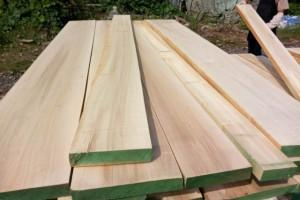 实木白杨木烘干刨光板材_规格可定制