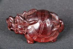 印度小叶紫檀手工中龙龟