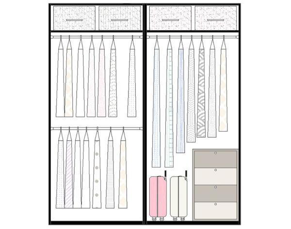 那么到底什么样的内部结构才算是好用的衣柜