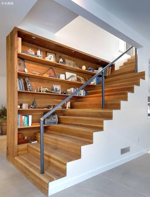 楼梯书架不光收纳书籍这么简单啦