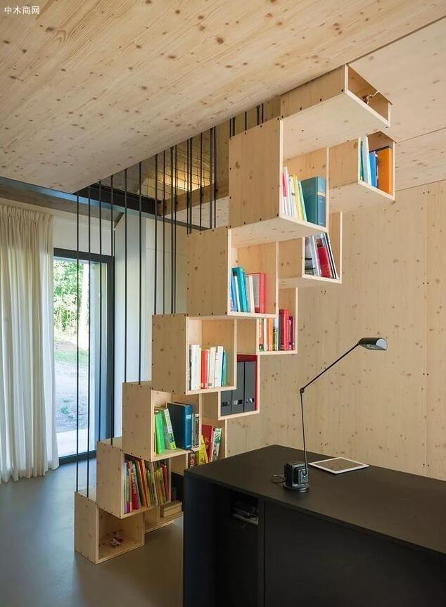 是比较喜欢楼梯台阶间的书籍收纳设计