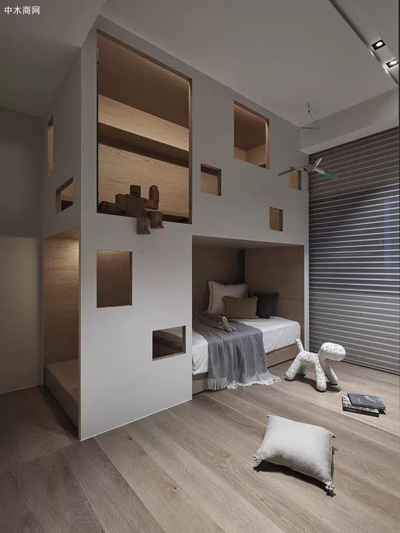 半包围的床铺让睡眠更具安全感