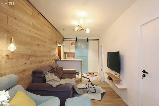 客厅装修很简洁,让原本不大的空间