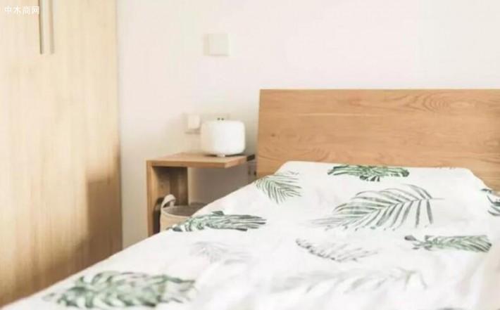白橡实木床