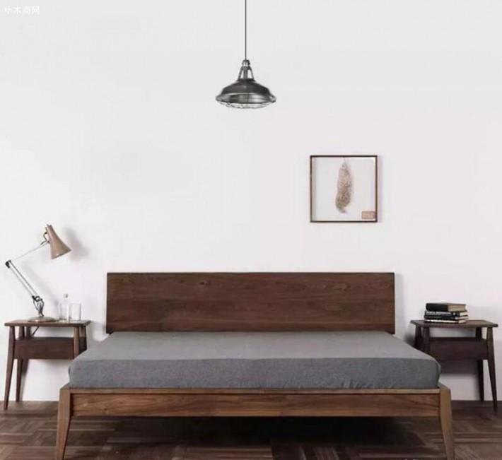 黑胡桃木平围床