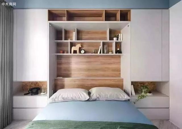 床头墙这样设计,连床头柜都省了,真是太实用了!图片