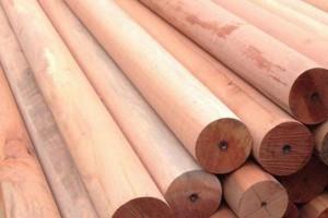 防腐木圆柱子一米多少钱 可碳化处理