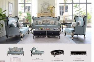 工厂直销  欧式简欧全屋配套系列沙发 桌椅 床