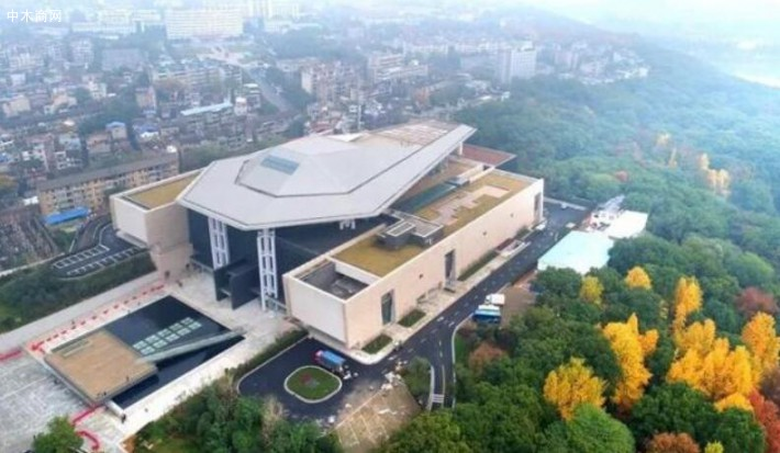 湖南省博物馆鸟瞰图