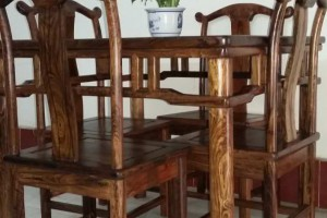 虎斑木桌椅批发