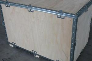 镇江钢带箱厂家直供 木托盘 机械包装 钢带箱