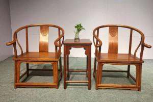 缅甸花梨圈椅