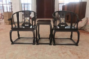 赞比亚血檀圈椅