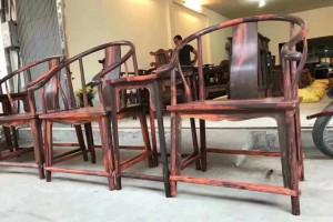 大红酸枝圈椅红木家具厂家批发