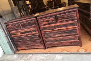 大红酸枝五斗柜红木家具供应