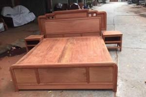 缅甸花梨大床红木家具厂家价格