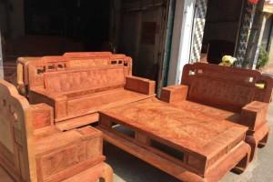缅甸花梨六件套沙发红木家具批发价格