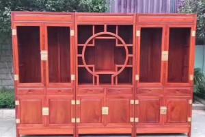缅甸花梨书柜红木家具厂家批发
