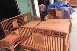 缅甸花梨六件套沙发高清图片