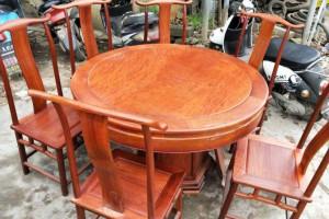红木家具厂家直销 缅甸花梨木餐桌